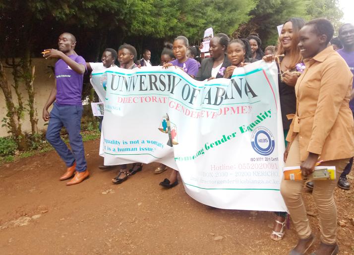 International Womens Day Celebrations by WOSWA at Kabianga University